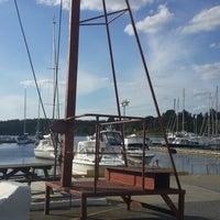 Photo taken at Gåshaga Marina by Elif Hande K. on 7/4/2014