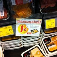 Photo taken at K-market Puhakka by Elina L. on 9/22/2012