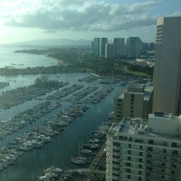 Photo taken at Waikiki Marina Resort at the Ilikai by Mike C. on 3/13/2013