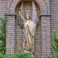 Photo taken at Alter St. Michael-Friedhof by Steffen F. on 7/27/2014
