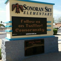Photo taken at Sonoran Sky Elementary by David L. on 3/15/2016