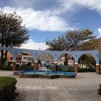 Photo taken at Plaza de Armas de Chivay by Marita A. on 12/2/2012