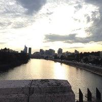 Photo taken at Pont de Levallois by Sintonia S. on 10/3/2013