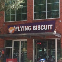 Photo taken at The Flying Biscuit Cafe by Tom K. on 7/16/2013