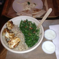 Photo taken at Loya Organic Middle Eastern Grill by FreshaThan Y. on 11/5/2013