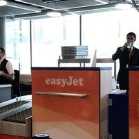 Photo taken at easyJet Check-In by Habib L. on 5/15/2018