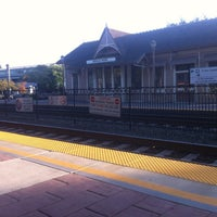 Photo taken at Menlo Park Caltrain Station by Jason S. on 9/28/2012