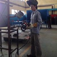 Photo taken at Welding Workshop BLKI Samarinda by Agus S. on 10/14/2013