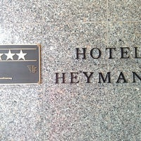 Photo taken at Hotel Heymann by Jia-Rong W. on 1/13/2014