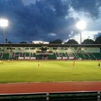 Photo taken at Surakul Sports Stadium by Omenasa C. on 6/12/2016