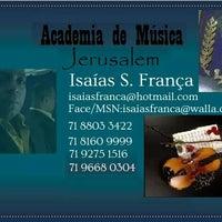 Photo taken at Academia de Música Jerusalém by Isaías F. on 5/25/2014