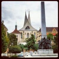 Photo taken at Náměstí pod Emauzy by Helena H. on 9/25/2013