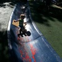 Photo taken at Frick Park Blue Slide Playground by Joshua P. on 7/14/2013
