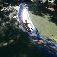 Photo taken at Frick Park Blue Slide Playground by Joshua P. on 6/5/2013