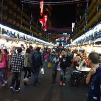 Photo taken at Miaokou Night Market by Micco on 11/5/2012