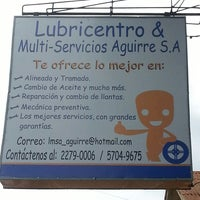 Photo taken at Lubricentto & Multi-Servicios Aguirre S.A by Fofi R. on 10/23/2013