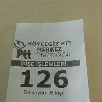 Photo taken at Köycegiz Ptt by Bekir A. on 1/19/2016
