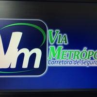 Photo taken at Via Metropole Corretora de Seguros by Thiago C. on 3/20/2014
