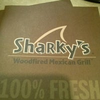 Photo taken at Sharky's Woodfired Mexican Grill by April L. on 11/20/2012