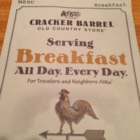 Photo taken at Cracker Barrel Old Country Store by Swaine T. on 1/3/2013