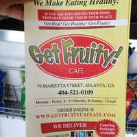 Photo taken at Get Fruity Cafe by Angelita B. on 3/25/2013
