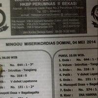 Photo taken at HKBP Perumnas 2 Bekasi by Filya Dwi Tristanty H. on 5/4/2014
