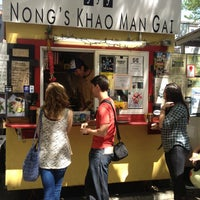 Photo taken at Nong's Khao Man Gai by Paul W. on 5/3/2013