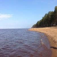 Photo taken at Пляж Финского Залива by Olga V. on 5/10/2013