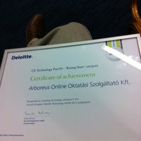 Photo taken at Deloitte Hungary by Gabor M. on 10/25/2012
