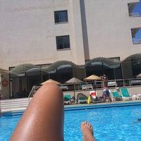 Photo taken at Alinda Beach Hotel Marmaris by Serenay Ö. on 9/2/2013
