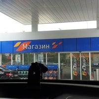 Photo taken at Газпромнефть АЗС № 135 by Алёна А. on 8/13/2014