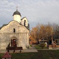 Photo taken at Храм св. мч. Трифона в Напрудном by Cветлана on 11/1/2015