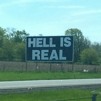 Image result for hell is real sign indiana