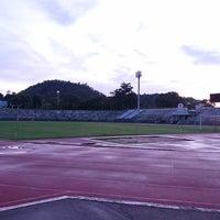 Photo taken at Surakul Sports Stadium by Mi M. on 5/18/2017