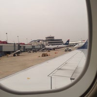 Photo taken at Gate B37 by Monica T. on 3/8/2014