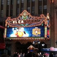 Photo taken at El Capitan Theatre by Jeana @. on 10/30/2012