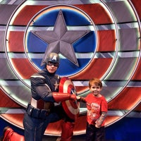 Photo taken at Captain America: The Living Legend and Symbol of Courage by Jeana @. on 2/28/2014