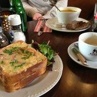 Photo taken at cafe madeleine by Alejandro D. on 2/20/2013