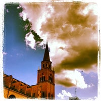 Photo taken at Piazza Leon Battista Alberti by Simon L. on 5/12/2013