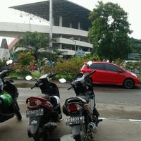 Photo taken at Taman Air Stadion Manahan Solo by io r. on 1/12/2013
