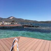 Photo taken at Havuzlu Plaj by Mert F. on 7/9/2016
