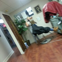 Photo taken at Andrews' Barber Salon by C.J. A. on 5/23/2014