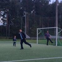 Photo taken at Jaunolaines sporta laukums by Anta A. on 9/1/2014