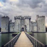 Photo taken at Bodiam Castle by Andy T. on 3/29/2013