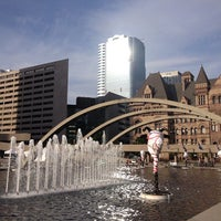 Photo taken at Nathan Phillips Square by Anna B. on 6/15/2013