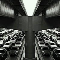 Photo taken at Sala Daeng Intersection by Peeranat K. on 11/26/2012