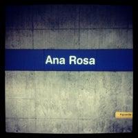 Photo taken at Ana Rosa Station (Metrô) by Thaisa C. on 11/24/2012