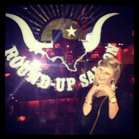 Photo taken at Round-Up Saloon and Dance Hall by Sara Beth W. on 11/11/2012
