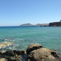 """Photo taken at Ασπρος Γκρεμος """"White Cliff"""" by Stella Fyrogeni Antiparioti P. on 5/31/2013"""
