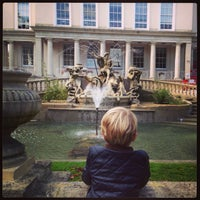 Photo taken at Neptune's Fountain by Joanne v. on 10/12/2013
